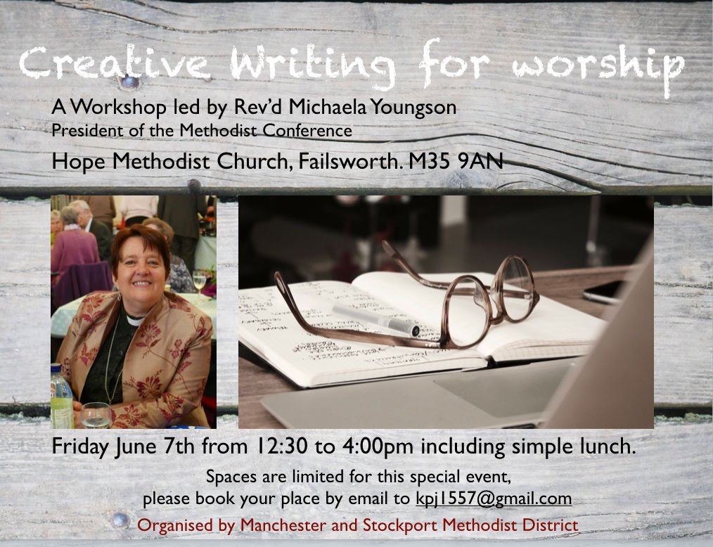 Creative Writing Workshop for Worship - June 2019