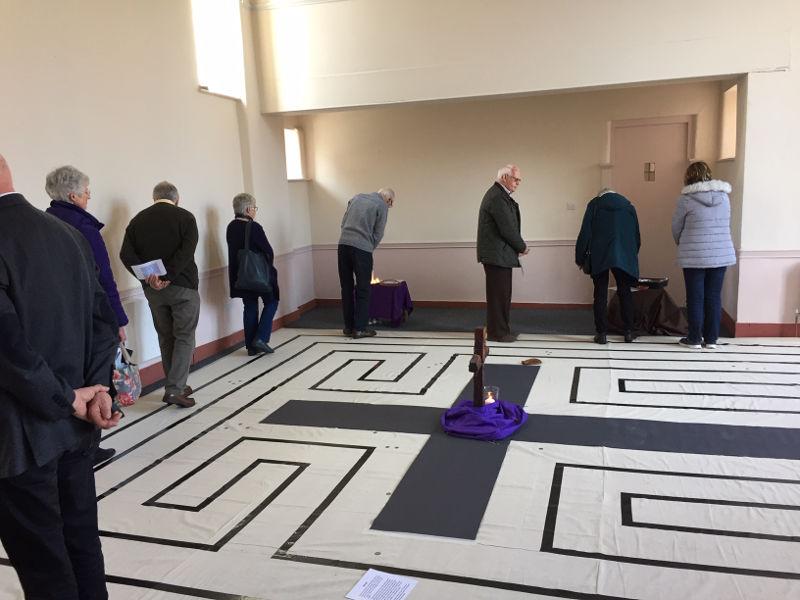 District Synod labyrinth
